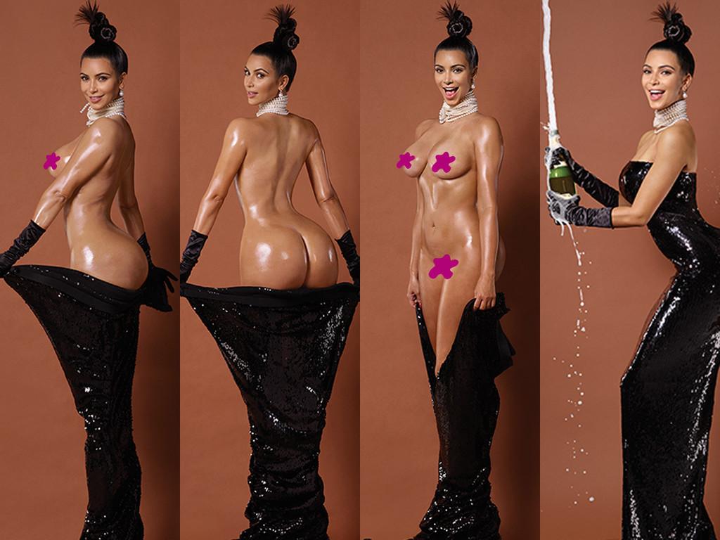 Kim Kardashian totalement nue dans le magazine Paper