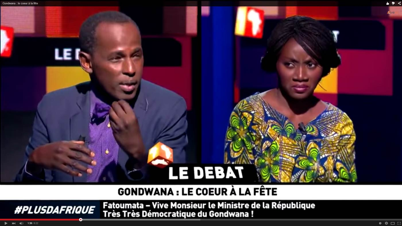 Saisie écran Youtube du débat au sein de la  République très très démocratique du Gondwanna