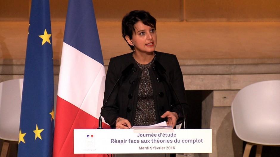 Najat Vallaud-Belkacem et la théorie du complot - Capture d'écran vidéo Dailymotion