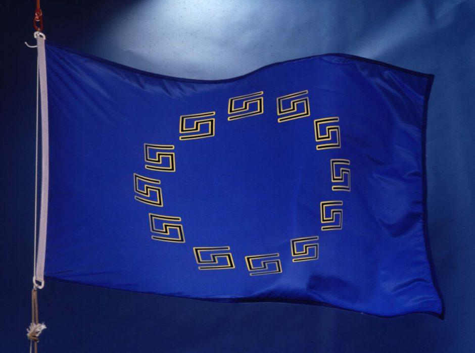 Nouveau drapeau des partis populistes de L'Union de l'Europe