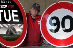 """Sécurité routière : après les paquets de cigarettes, voici les panneaux de limitation de vitesse """"neutres"""""""