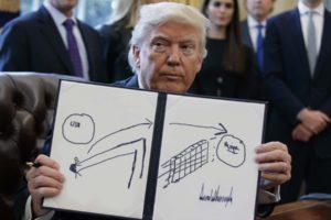 Trump teste des lance-pierres/catapultes pour renvoyer les migrants au Mexique