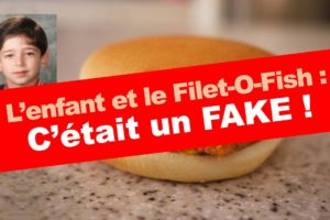 Erratum : l'enfant et le Filet-O-Fish n'était qu'un fake publicitaire