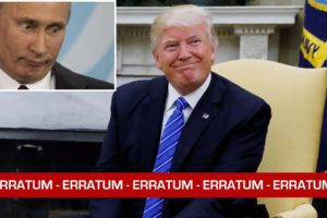 ERRATUM : Trump et la Russie
