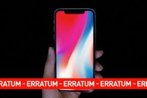 ERRATUM – IPHONE – ERRATUM